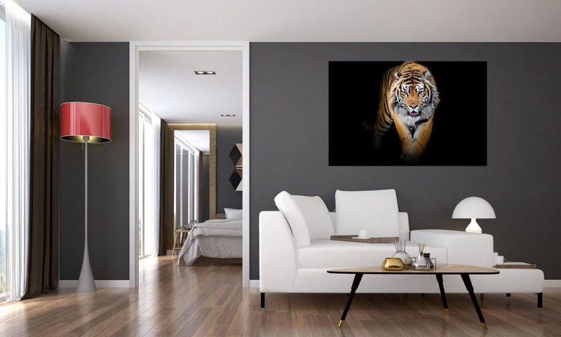 Obraz Na Ścianę 120X80 Tygrys Tygrys Zwierzę zdjęcie 3