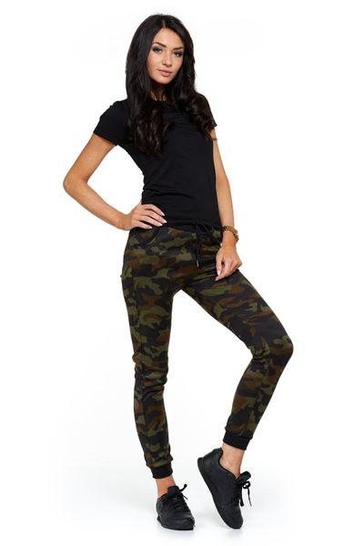 b0a2876e Spodnie damskie dresowe MORO elastyczne - zieleń Rozmiar - XL/XXL