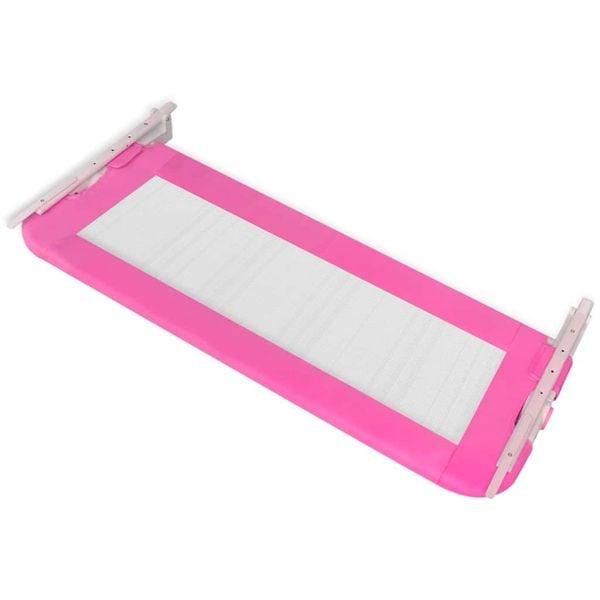 Barierka ochronna do łóżeczka 102 x 42 cm różowa zdjęcie 4