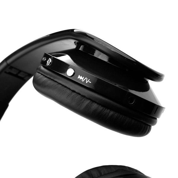 Słuchawki BEZPRZEWODOWE nauszne BLUETOOTH mikrofon CZARNE zdjęcie 6