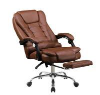 Biurowy fotel obrotowy ekoskóra. SL11. Brąz. Nowość