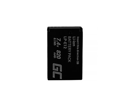 Bateria Green Cell ® Lp-E12 Do Canon Eos M100, Eos100D, Eos-M, Eos M2, Eos M10, Rebel Sl1 7.4V 820Mah