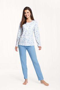 Piżama damska LUNA kod 456 niebieska [3XL]