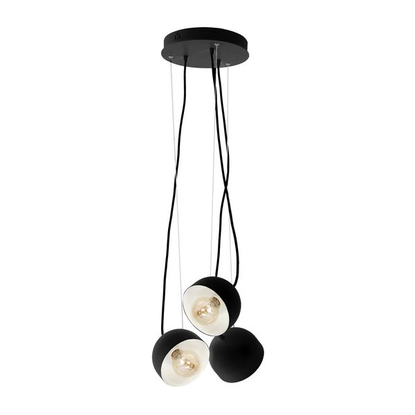 Lampa Wisząca Ron Żyrandol E27 Czarny zdjęcie 1