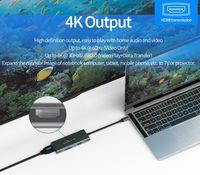 ADAPTER HUB 7W1 USB-C HDMI 4K/USB3.0/SD/PD MACBOOK PRO DEX MULTIPORT