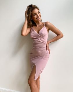 Krótka Sukienka Laura II- puder M (38)