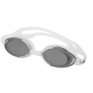 Okulary pływackie MALIBU Kolor-Okulary - 53 - biały / ciemne szkła