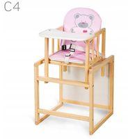 KLUPŚ Krzesełko dla dzieci AGA C4  SOSNA do karmienia i zabawy