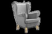 Fotel tapicerowany USZAK skandynawski pikowany SZYBKA DOSTAWA kolory zdjęcie 1