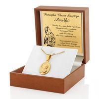 Srebrny 925 medalik prezent Chrzest Komunia GRAWER
