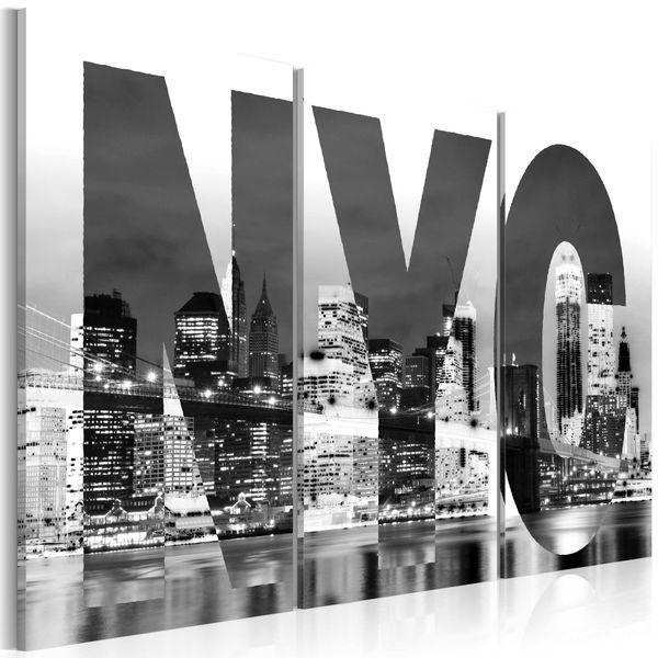 Obraz - Nowy Jork (czarno-biały) Rozmiar - 60x40 zdjęcie 1