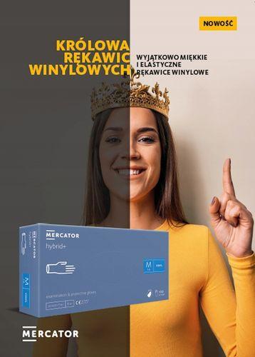 Rękawice winylowe MERCATOR hybrid+ L 100 szt na Arena.pl