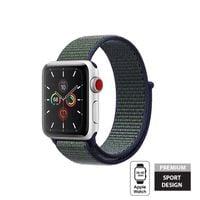 Crong Nylon Band - Pasek sportowy do Apple Watch 38/40 mm (Midnight Fog)