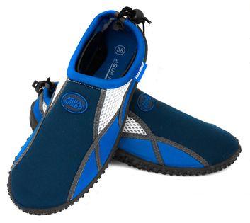 Buty do wody AQUA SHOE MODEL 17 Rozmiar - Obuwie plażowe - 35, Kolor - Obuwie plażowe - Model 17 - A - granat / niebieski / biały