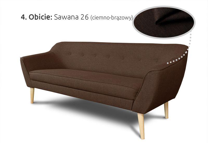Kanapa 3-osobowa Skandi w stylu skandynawskim - Sofa Wersalka zdjęcie 4