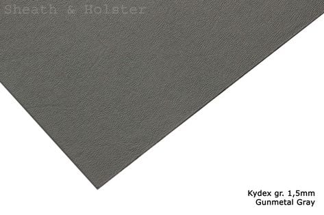 Kydex Gunmetal Gray - 150x200mm gr. 1,5mm