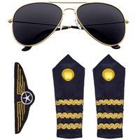 zestaw PILOTA pilotki PILOT SAMOLOT okulary