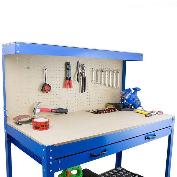 Stół Warsztatowy Garażowy Duży z Szufladą uchwyty Solidny do 100 kg zdjęcie 7