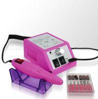 Różowa frezarka do manicure Aurora CT1203 wraz z 2 kompletami frezów (42 sztuki)