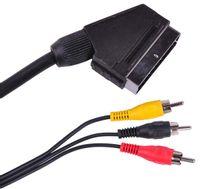KPO2716-1,5 Kabel euro - 3 x rca 1,5m