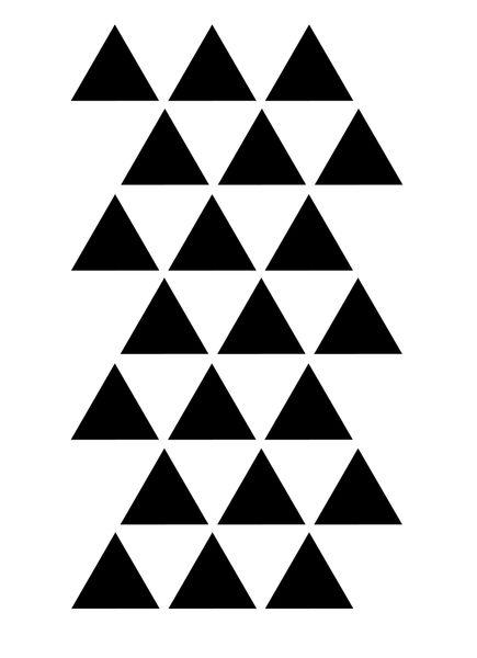 Szablon malarski PX 327, PX327, trójkąt, trójkąty Rozmiar - L, Szablon - PCV zdjęcie 2