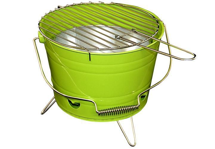 Grill ogrodowy wiaderko mini BBQ przenośny zielony D27146 na Arena.pl