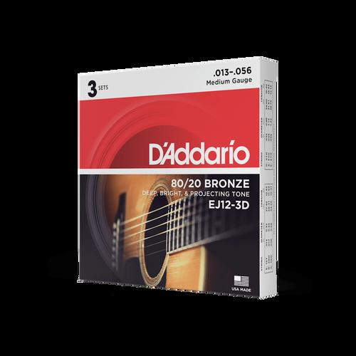 Struny do gitary akustycznej Daddario EJ12 3D na Arena.pl