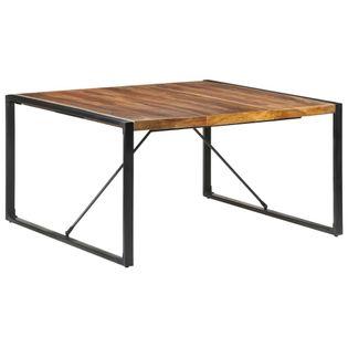 Lumarko Stół jadalniany, 140x140x75 cm, drewno stylizowane na sheesham