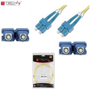 Światłowód krosowy TechlyPro SC-SC duplex 9/125 OS2, SM 3m ILWL D9-B-030
