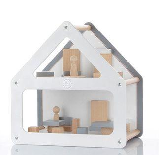 MODOS domek dla lalek z wyposażniem CZERWONY