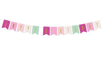 BANER GIRLANDA HAPPY BIRTHDAY MIX 11,5 X 140 CM PARTYDECO