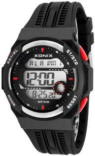Xonix Męski zegarek sportowy, czas światowy, 8 x alarm, WR 100M, 3 x interval timer, antyalergiczny