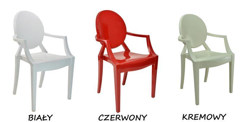 Krzesło Dankor Design Louis Ghost przezroczysty zdjęcie 12