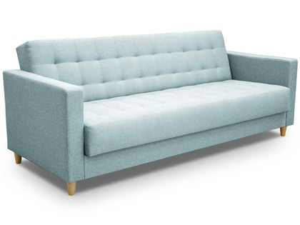 Rozkładana skandynawska sofa Quest z pojemnikiem