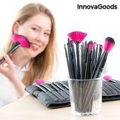 Zestaw 24 Pędzelków i Szczoteczek do Makijażu InnovaGoods
