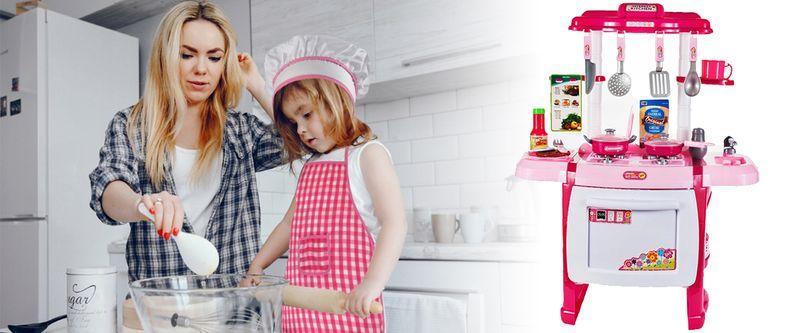Kuchnia dla dzieci Piekarnik Zlew + Akcesoria Y162 zdjęcie 6