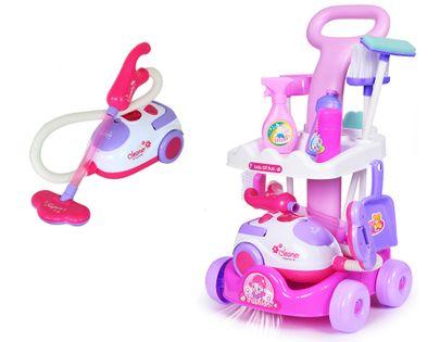Zabawkowy wózek do sprzątania dla dzieci z odkurzaczem + akcesoria Z09