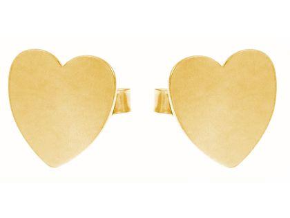 Delikatne pozłacane srebrne gładkie kolczyki celebrytka serce serduszko srebro 925 FL156KG