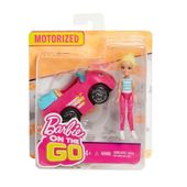 Mattel Barbie On The Go Różowy samochód + Lalka
