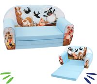 DELSIT rozkładana sofa kanapa z pianki dla dziecka FARMA