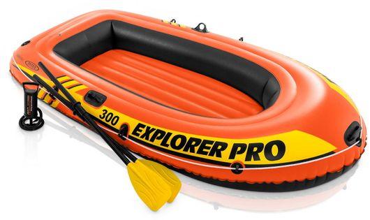 INTEX Ponton trzyosobowy Explorer Pro 300 z wyposażeniem 244x117x36 cm 58358