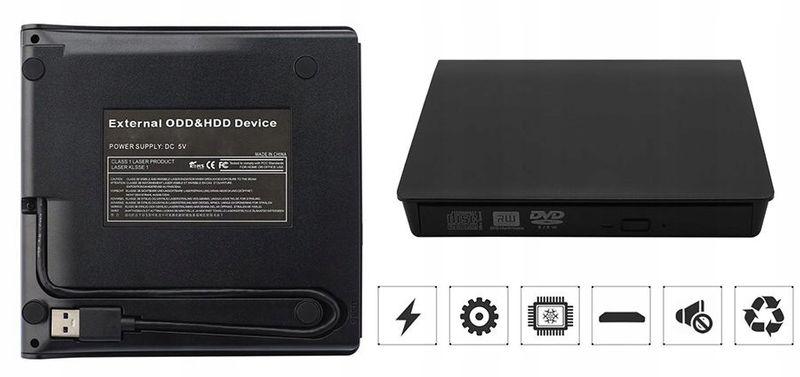 USB 3.0 NAGRYWARKA ZEWNĘTRZNA CD, CD-RW, NAPĘD DVD zdjęcie 8