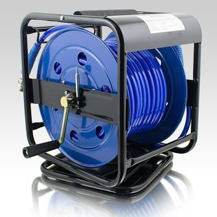 15196 Wąż Pneumatyczny na zwijaku z bębnem 30m solidny pneumat