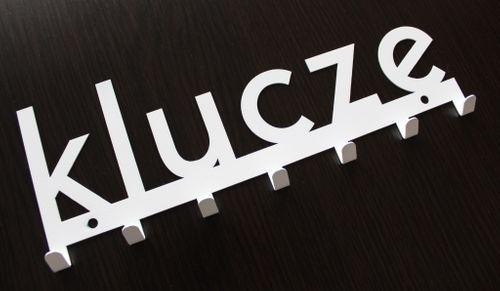 Metalowy wieszak ścienny na ubrania design dekoracja - KLUCZ na Arena.pl