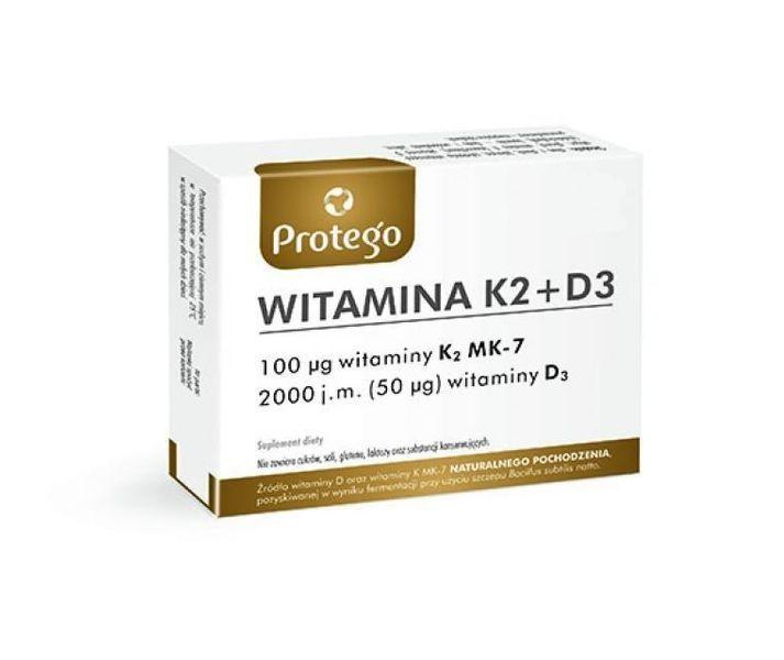 Protego Witamina K2+D3, 30 kapsułek - Długi termin ważności! zdjęcie 1