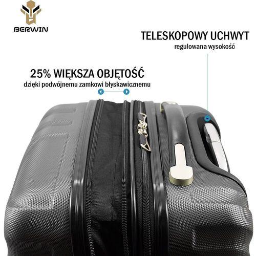 Walizki set zestaw 3 walizek RÓŻOWE na Arena.pl