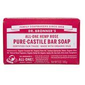 Dr. Bronner's Kastylijskie mydło w kostce różane - 140 g