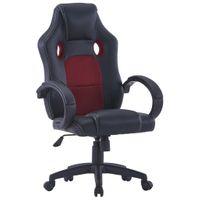 Fotel dla gracza czerwony sztuczna skóra VidaXL