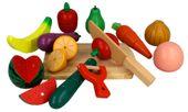 Zestaw KUCHNIA drewniane owoce i warzywa do krojenia magnetyczne Z211 zdjęcie 3