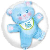 BALON foliowy MISIEK w balonie BABY SHOWER boy